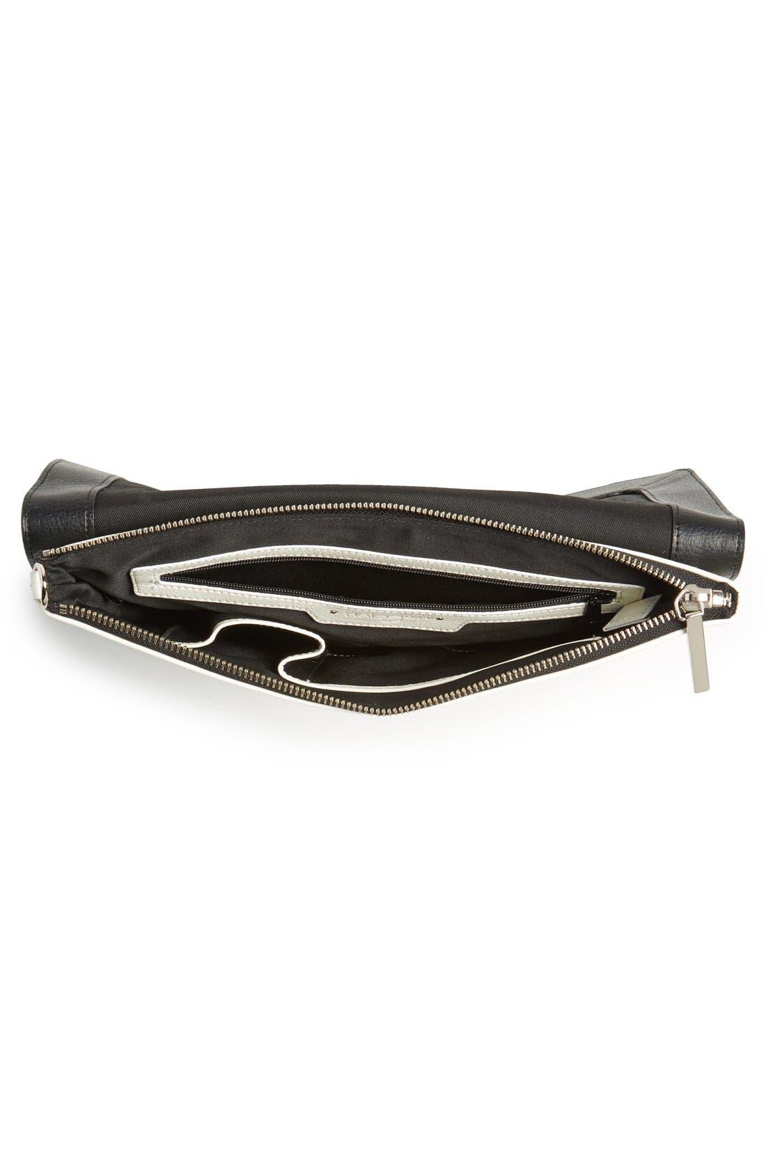 Alternate Image 6  - Halogen® 'Racer Stripe' Python Embossed Leather Clutch