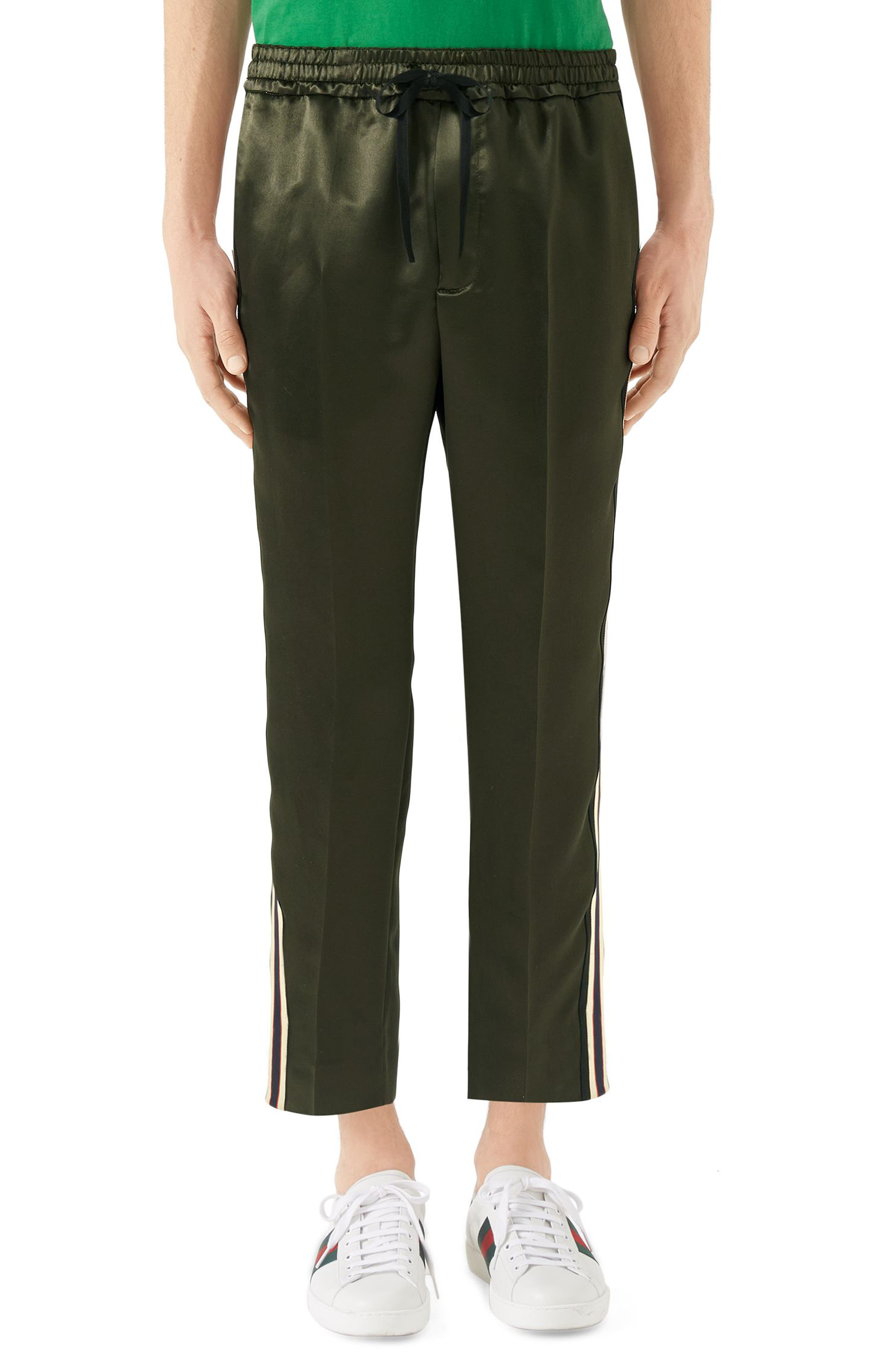Track Pants,                         Main,                         color, Green