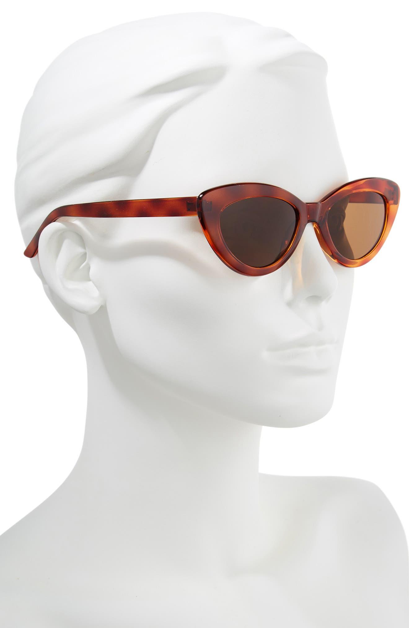 51mm Cat Eye Sunglasses,                             Alternate thumbnail 2, color,                             Tort