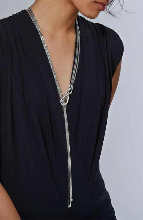 John Hardy Classic Sterling Silver Mini Lariat Necklace