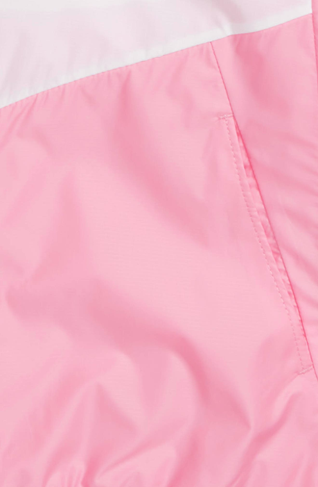 Sportswear Windrunner Jacket,                             Alternate thumbnail 3, color,                             White/ Pink/ Pink