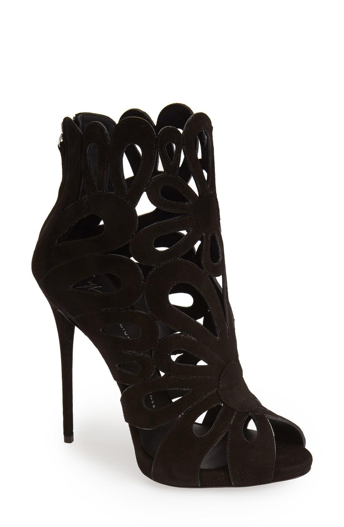 Alternate Image 1 Selected - Giuseppe Zanotti 'Coline' Leather Cage Bootie (Women)