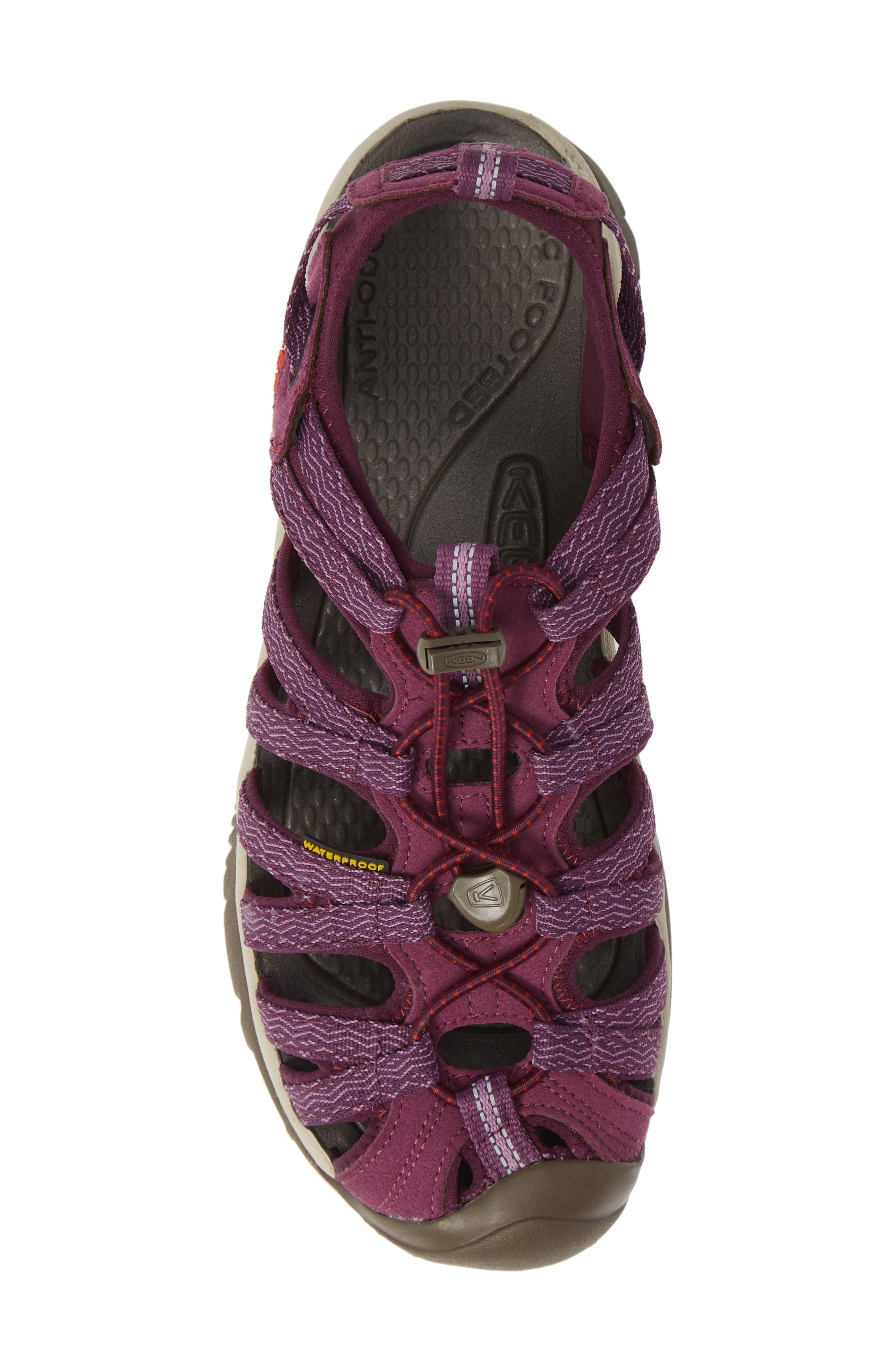 'Whisper' Water Friendly Sport Sandal,                             Alternate thumbnail 5, color,                             Grape Kiss/ Grape Wine