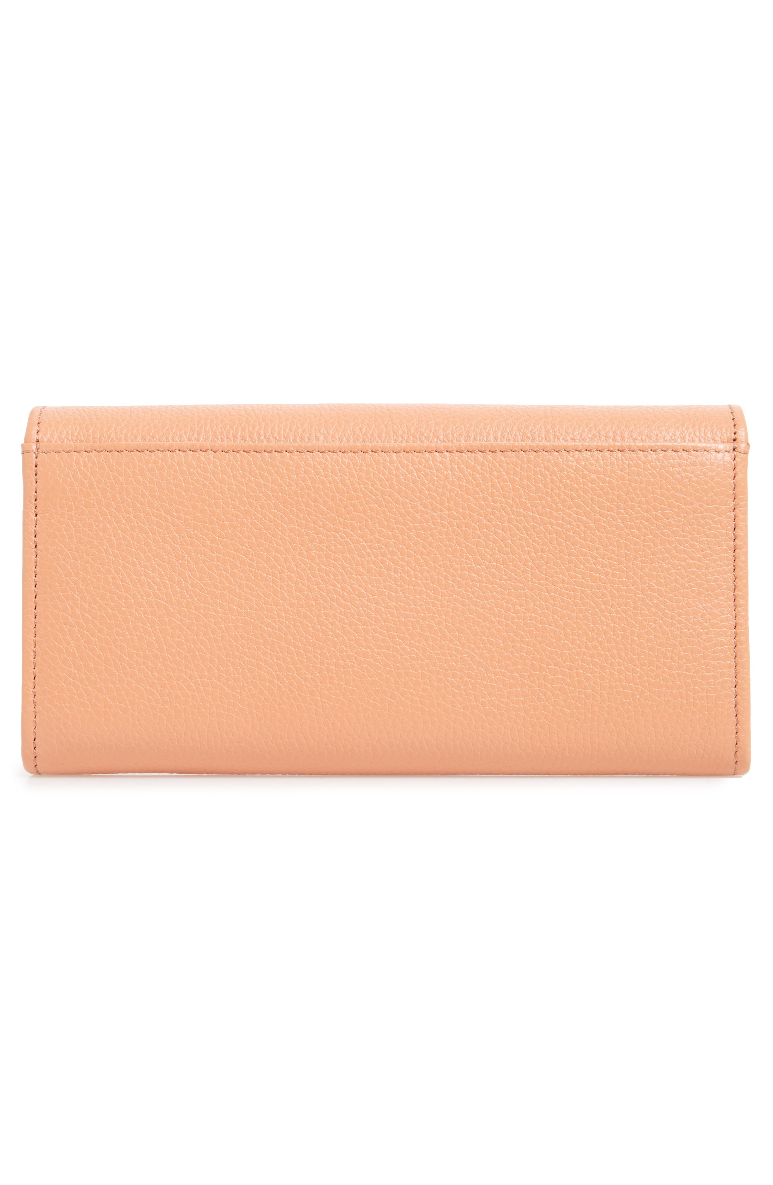 Lizzie Leather Continental Wallet,                             Alternate thumbnail 3, color,                             Canyon Sunset