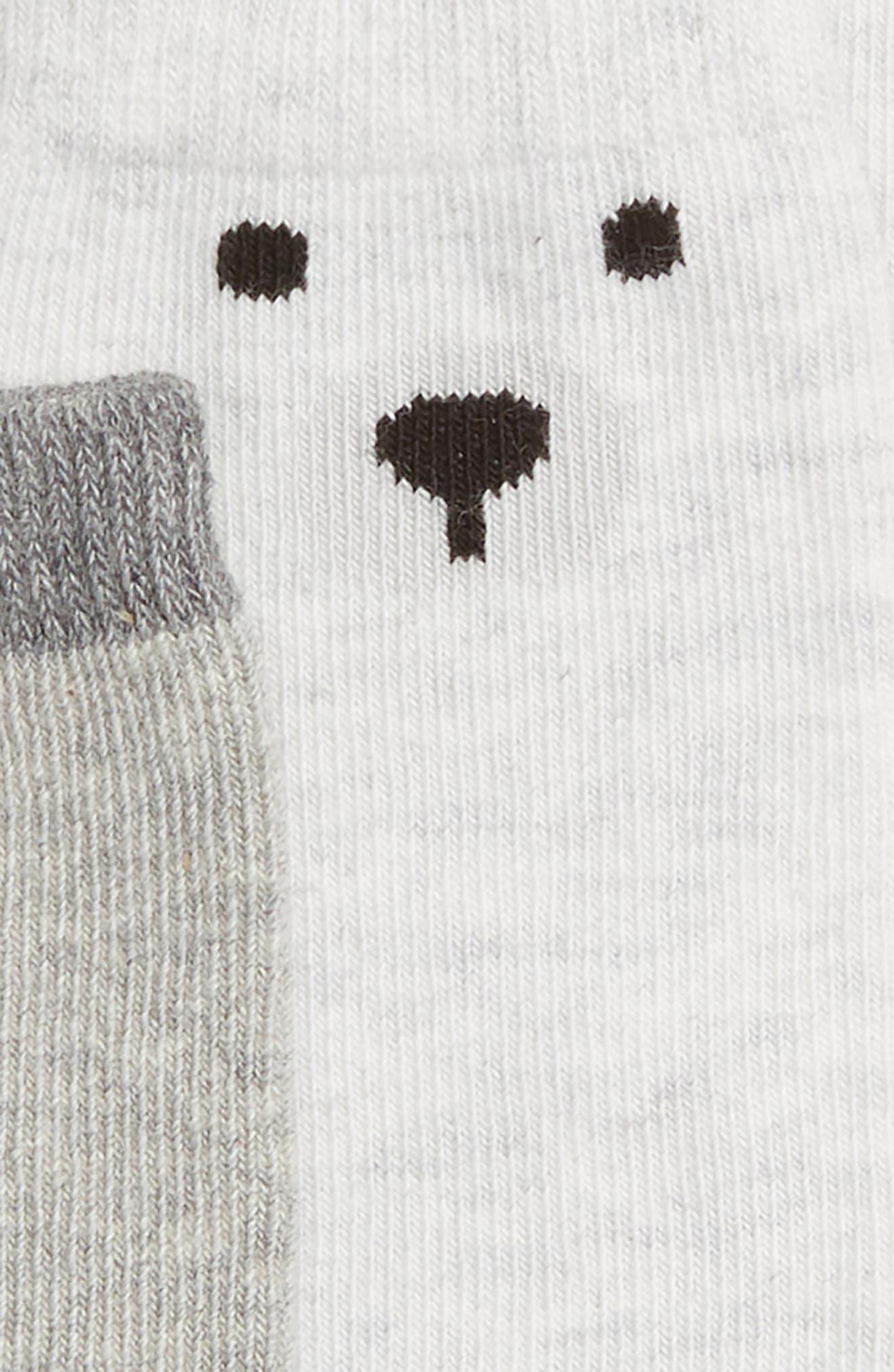 Teddy 2-Pack Boot Socks,                             Alternate thumbnail 2, color,                             Grey