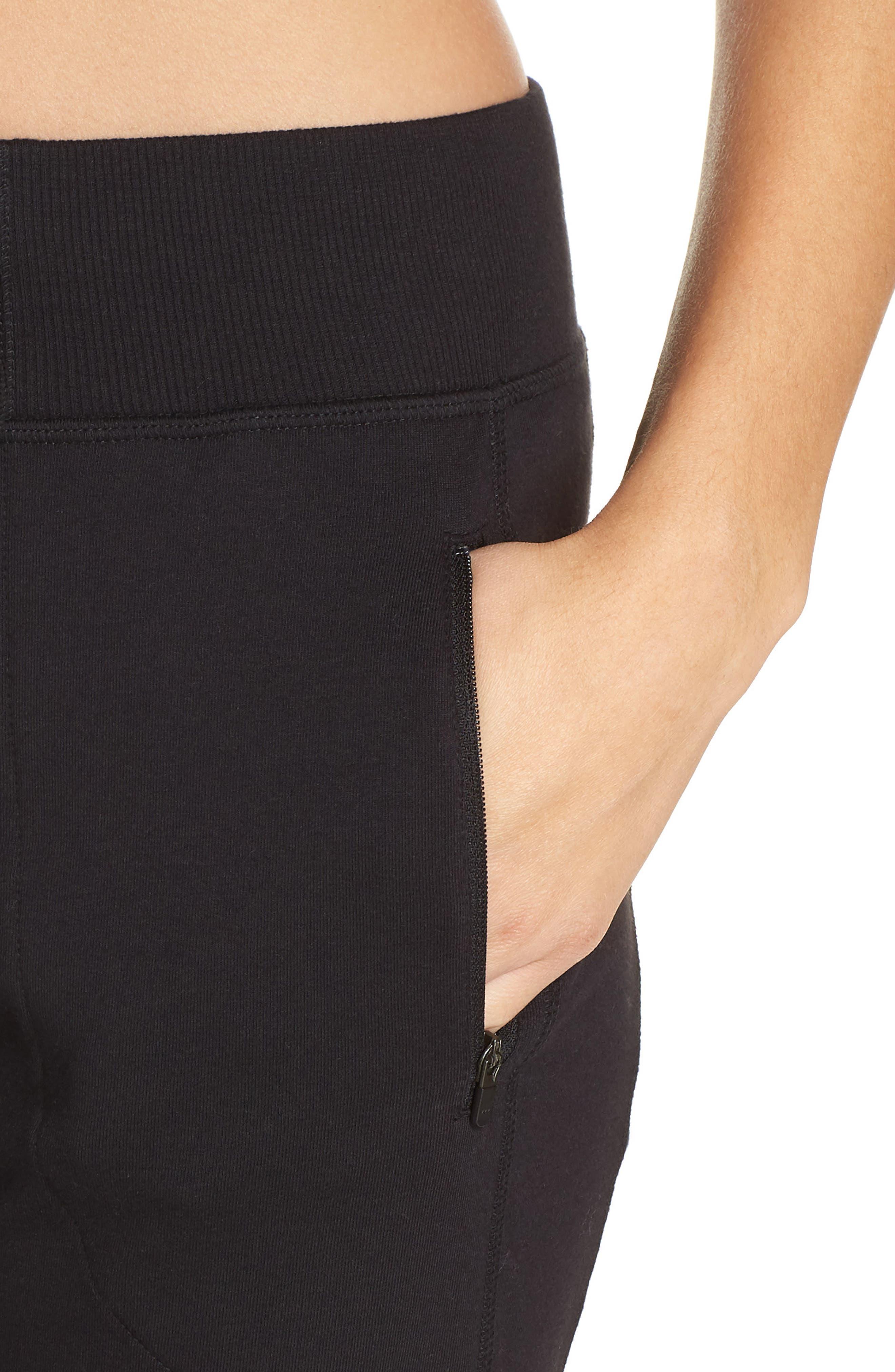 Taryn Sport Knit Pants,                             Alternate thumbnail 4, color,                             Black