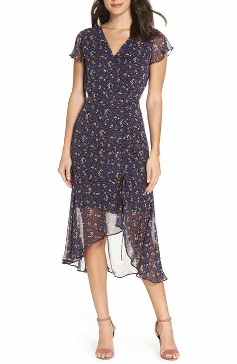 0b6ced5ae21d Sam Edelman Ditzy Print Ruched Midi Dress