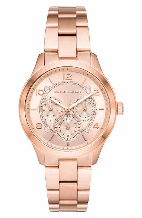 55bb6b5b8025 Michael Kors Runway Multifunction Bracelet Watch