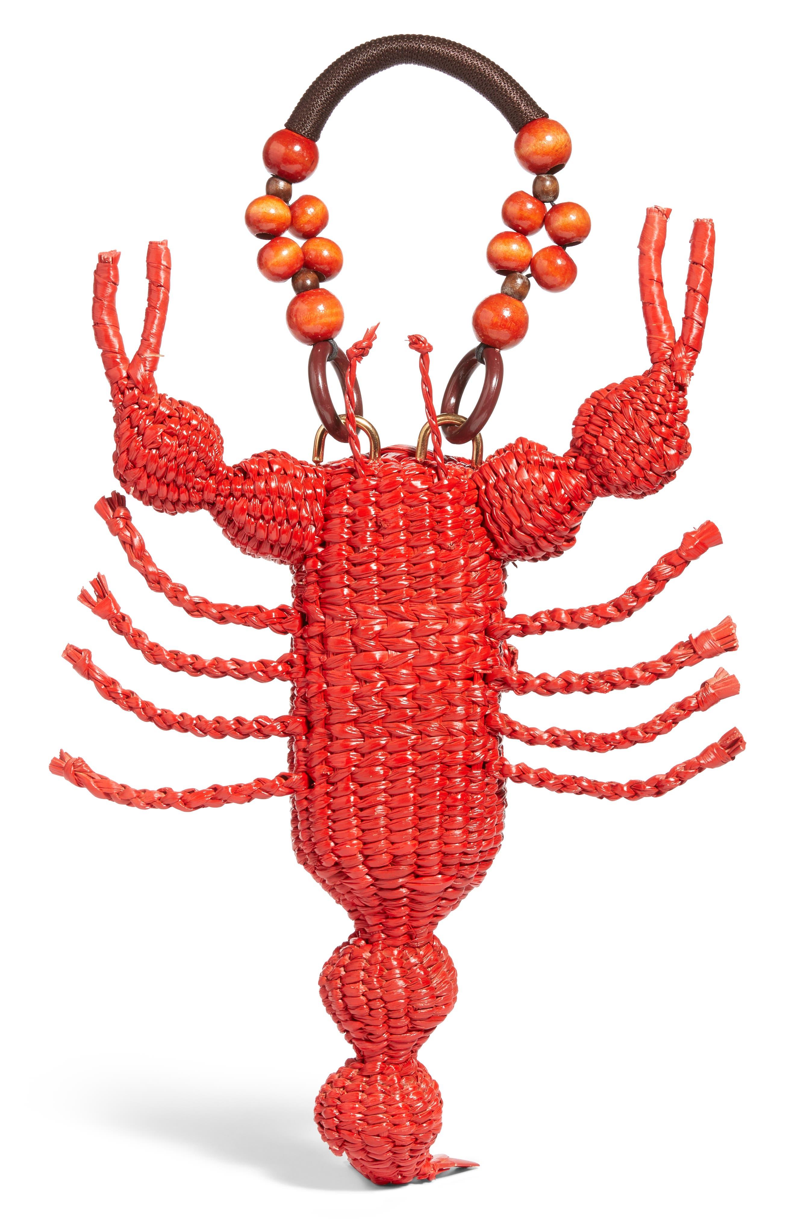Lobster Bag,                             Alternate thumbnail 3, color,                             Red