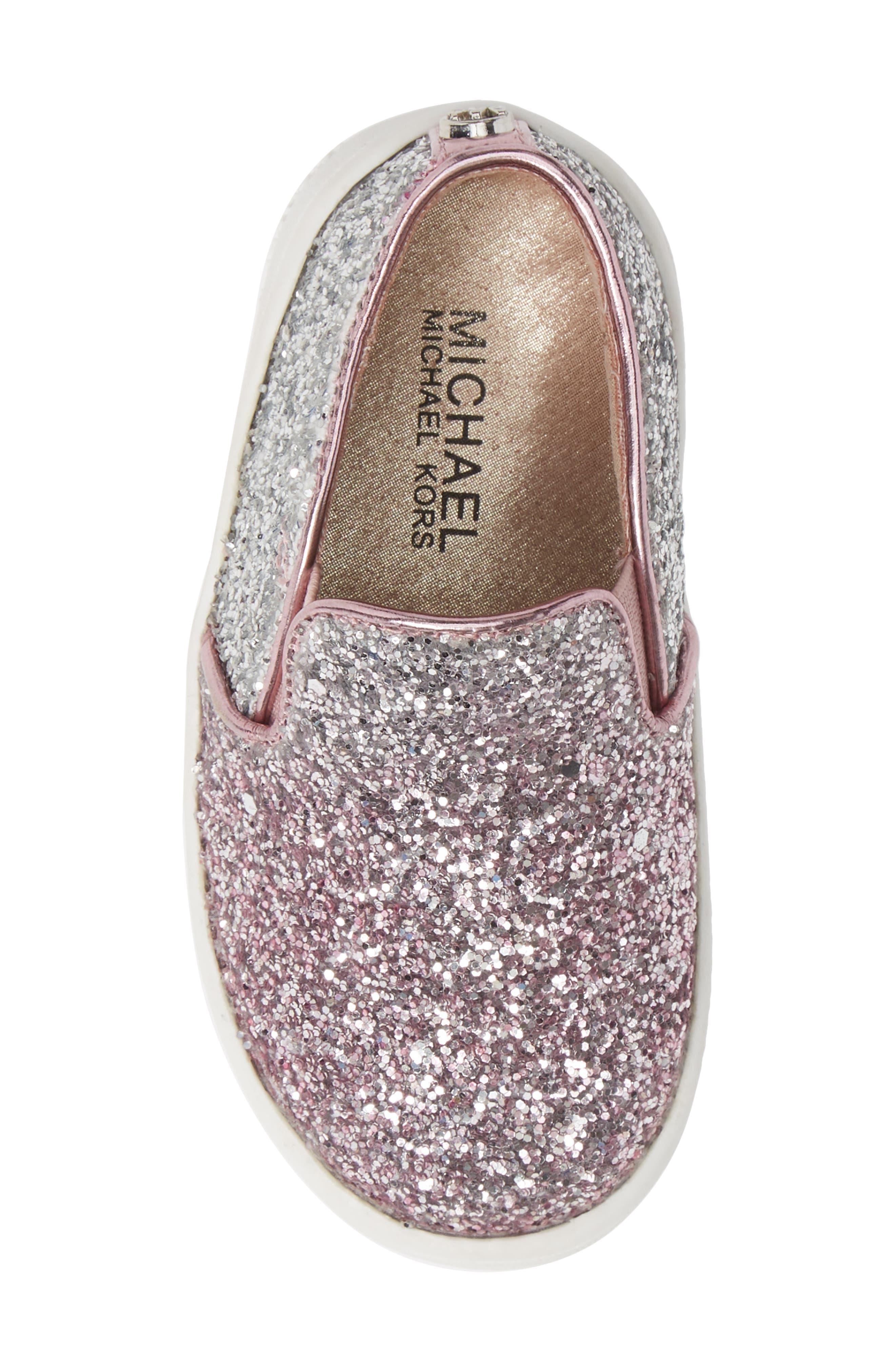 Ivy Ombré Glitter Slip-On Sneaker,                             Alternate thumbnail 6, color,                             Pink Silver