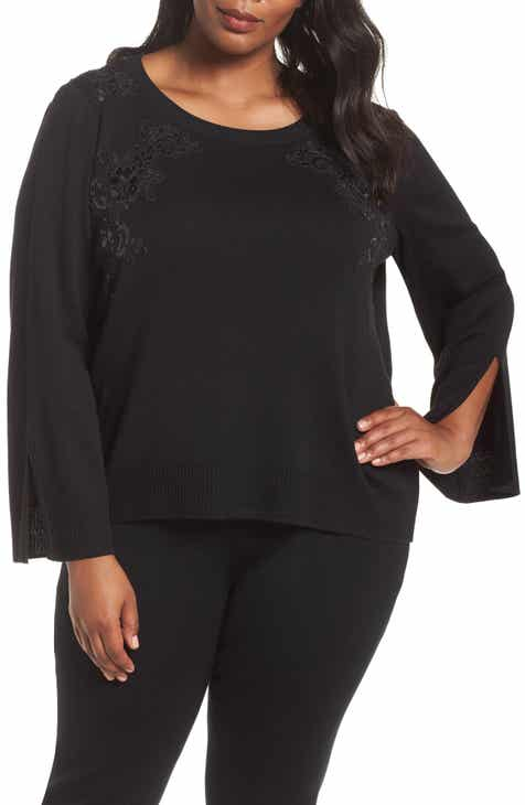 Ming Wang Embellished Sweater (Plus Size) by Ming Wang