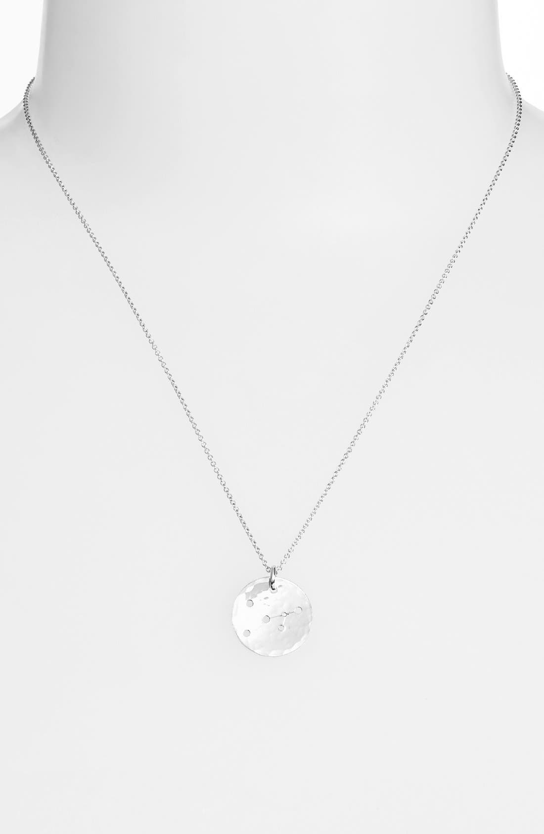 Ija 'Small Zodiac' Sterling Silver Necklace,                             Main thumbnail 1, color,                             Sterling Silver Cancer