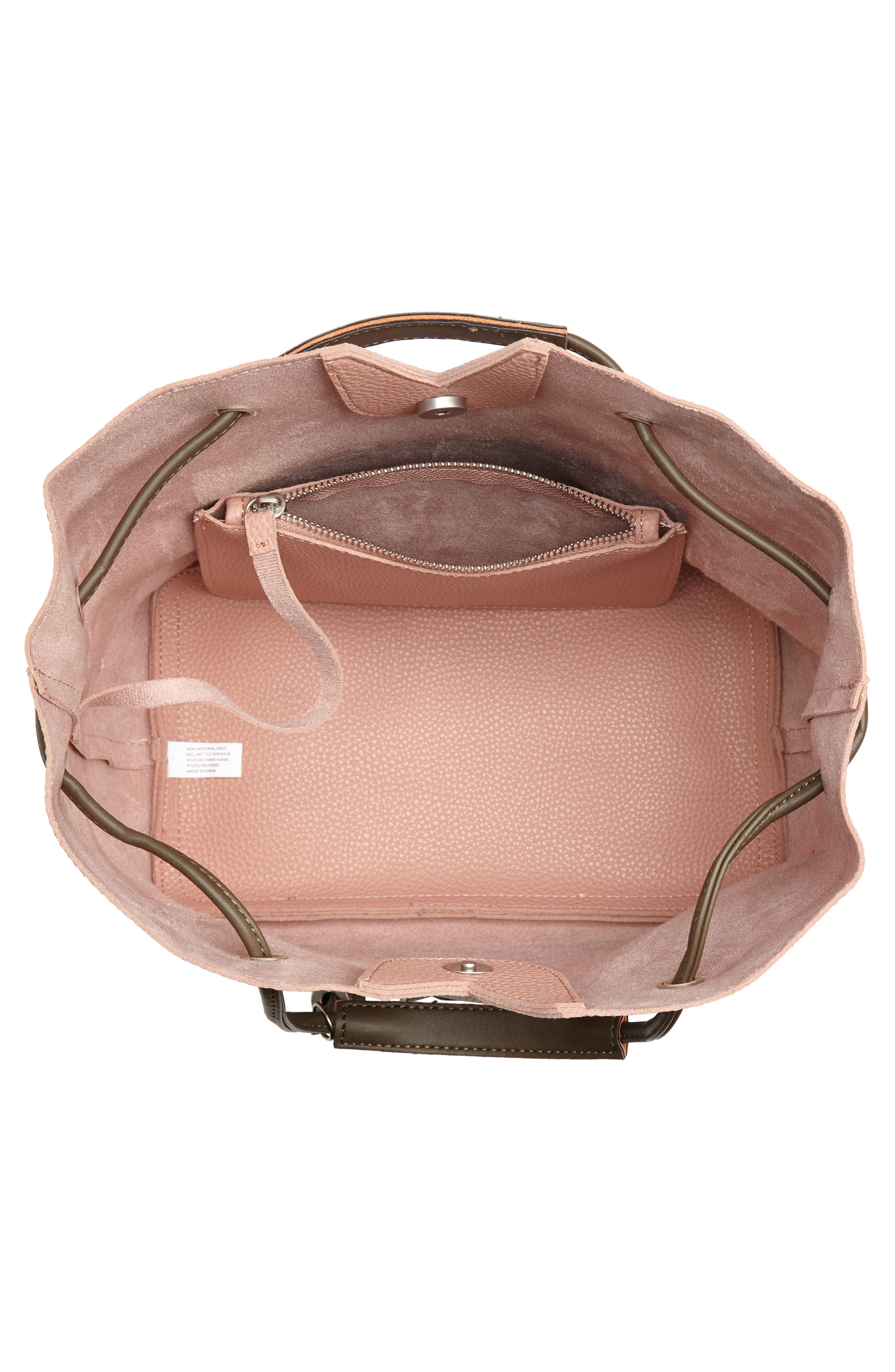 Jasmine Faux Leather Hobo,                             Alternate thumbnail 6, color,                             Dusty Pink