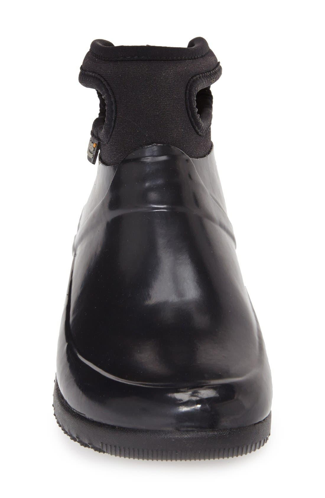 'Seattle' Waterproof Short Boot,                             Alternate thumbnail 3, color,                             Black