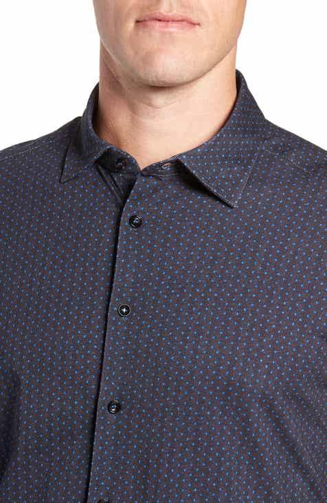 Stone Rose Regular Fit Knit Sport Shirt