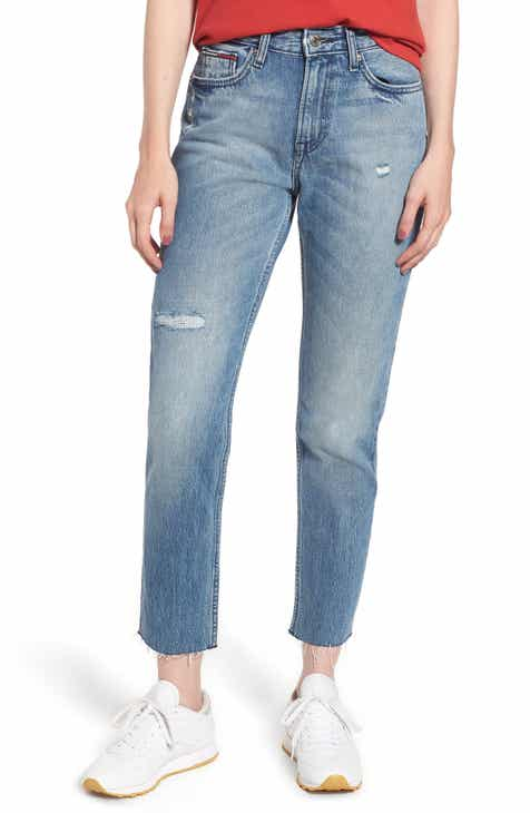 9813ede3 TOMMY JEANS Izzy High Rise Slim Jeans (Orion Mid Blue Rigid)