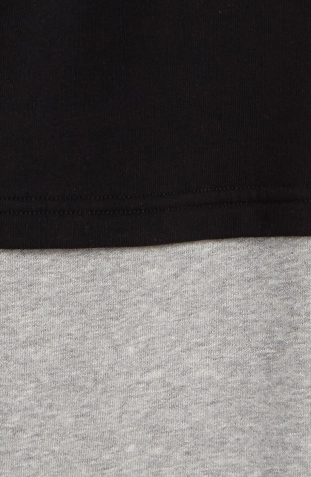 Double Sweatpants,                             Alternate thumbnail 2, color,                             Black/ Heather Grey