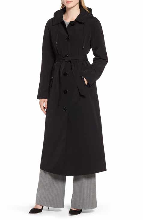 a555082263a London Fog Long Trench Coat with Detachable Hood   Liner (Regular   Petite)