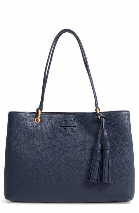 Tory Burch Mcgraw Triple Compartment Leather Satchel