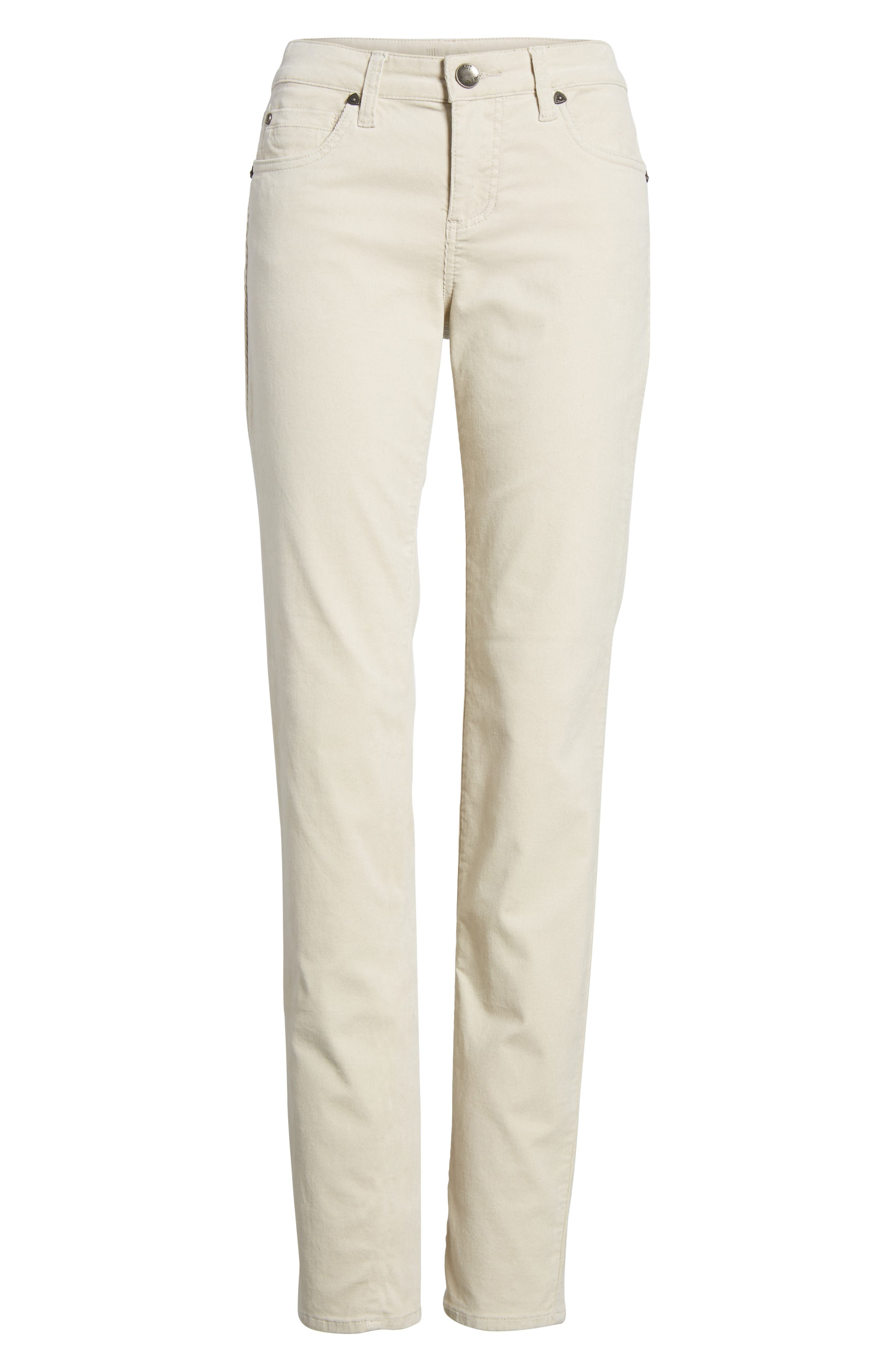 Diana Stretch Corduroy Skinny Pants,                             Alternate thumbnail 6, color,                             Light Tan 2