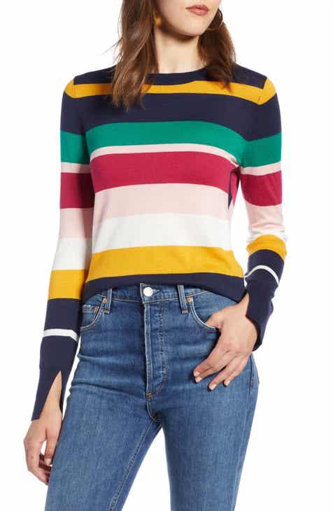 66ce3bd16a564 Halogen® Slit Sleeve Sweater (Regular   Petite)