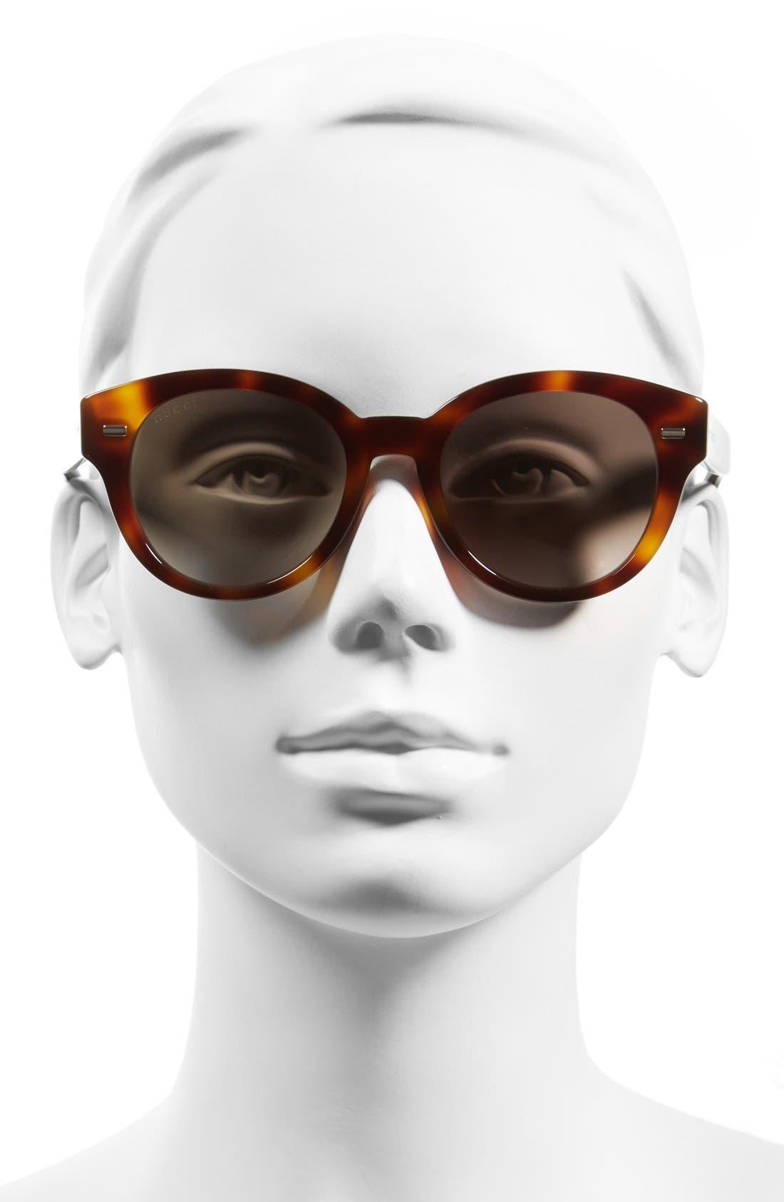 Alternate Image 2  - Gucci 50mm Retro Sunglasses