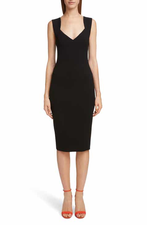 Victoria Beckham Sweetheart Neck Body-Con Dress