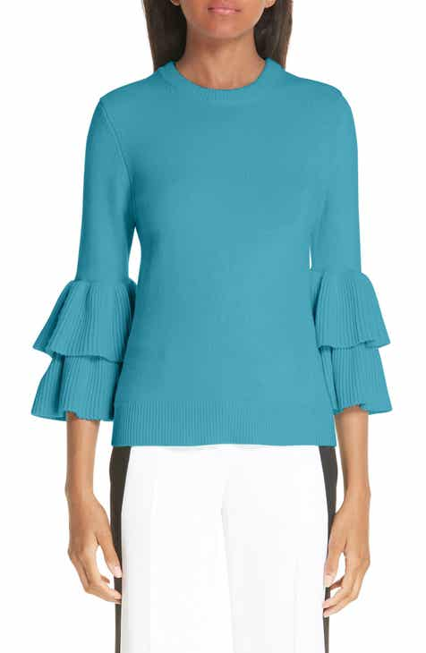 Michael Kors Tiered Ruffle Sleeve Ribbed Sweater by MICHAEL KORS