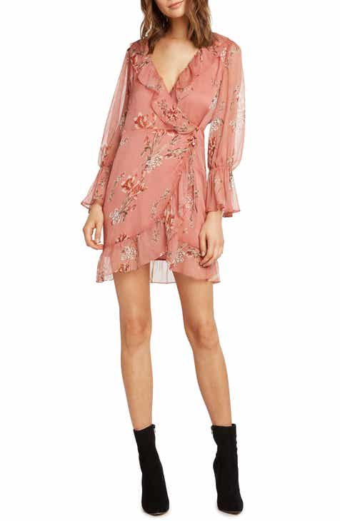 Willow Clay Print Wrap Dress