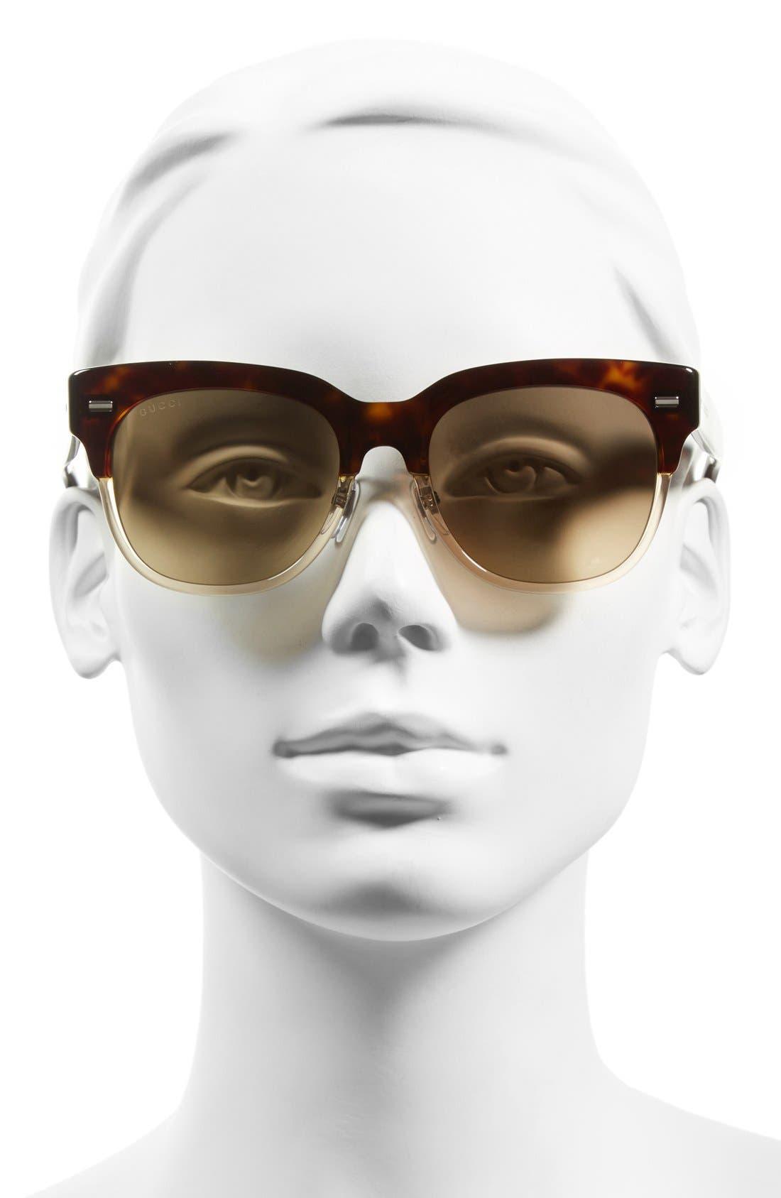 Alternate Image 2  - Gucci 52mm Retro Sunglasses
