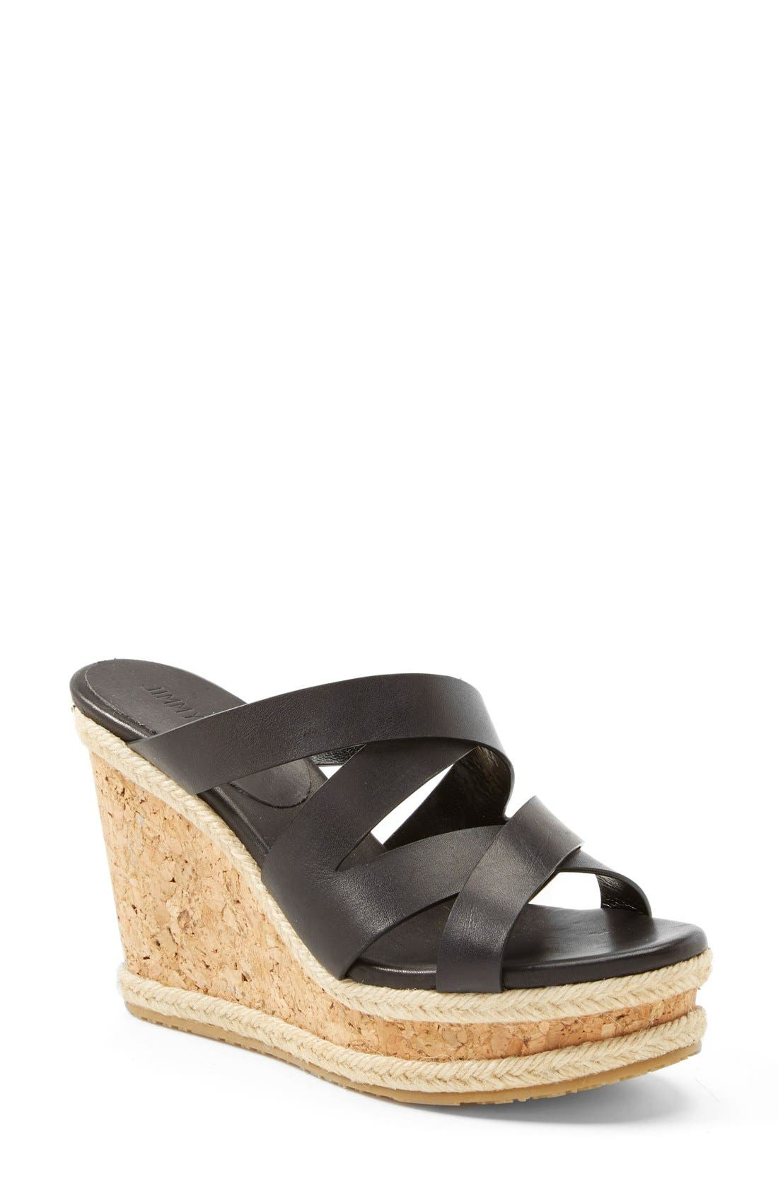 Main Image - Jimmy Choo 'Prisma' Leather Wedge Sandal (Women)