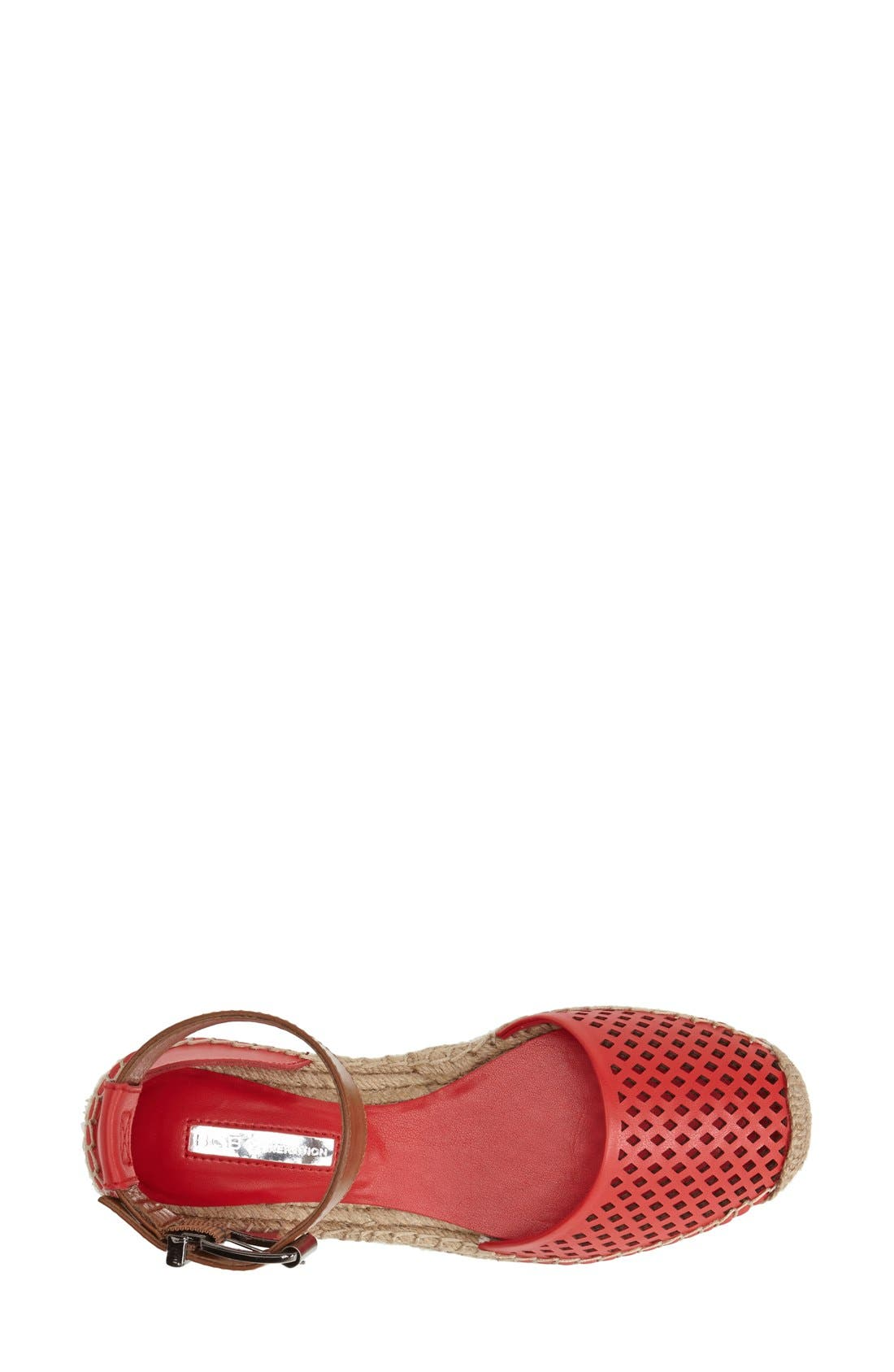 'Felicity 2' Ankle Strap Espadrille Flat,                             Alternate thumbnail 3, color,                             Passion/ Toffee
