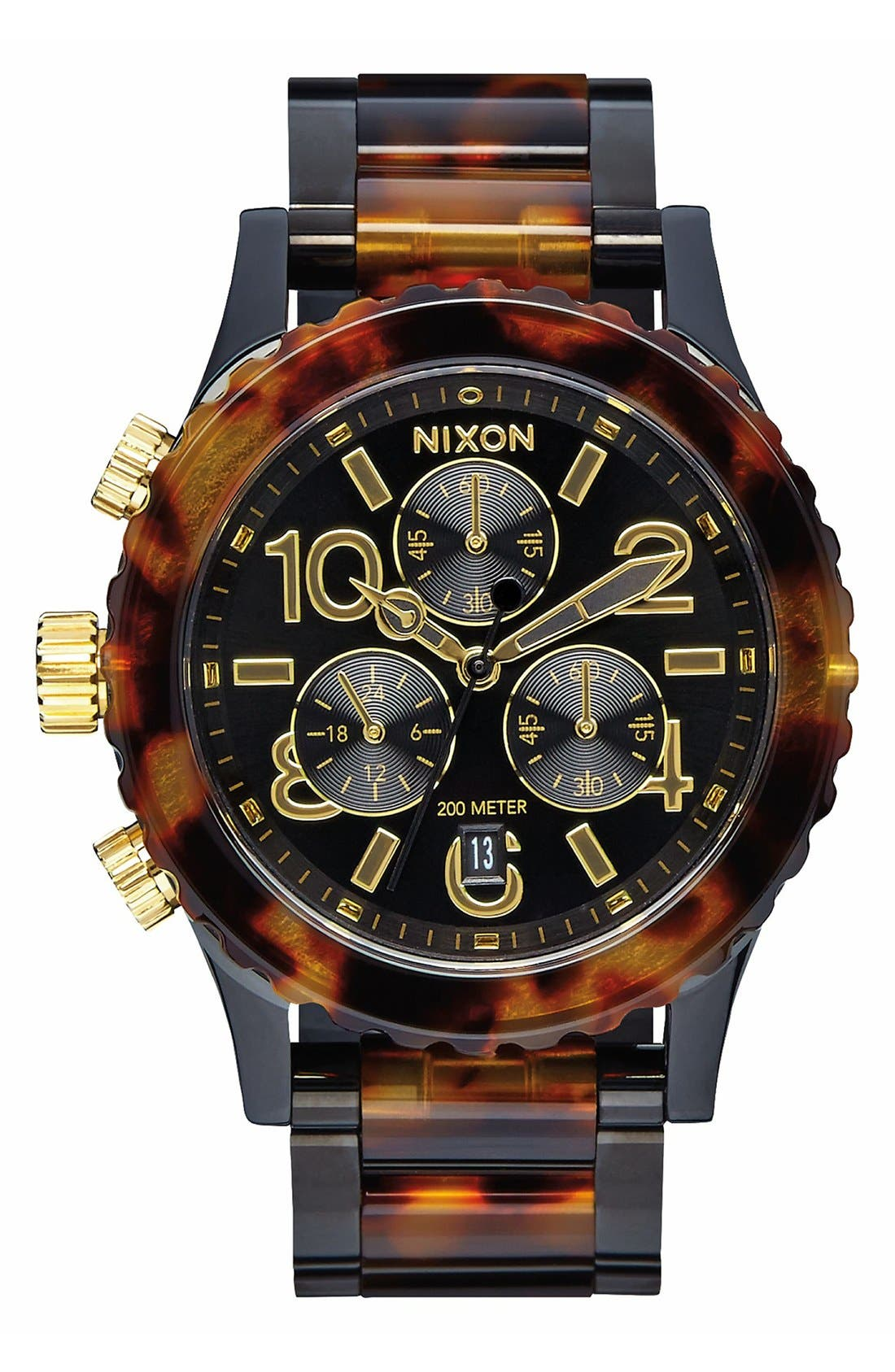 Alternate Image 1 Selected - Nixon 'The 38-20' Extra Large Chronograph Bracelet Watch, 38mm