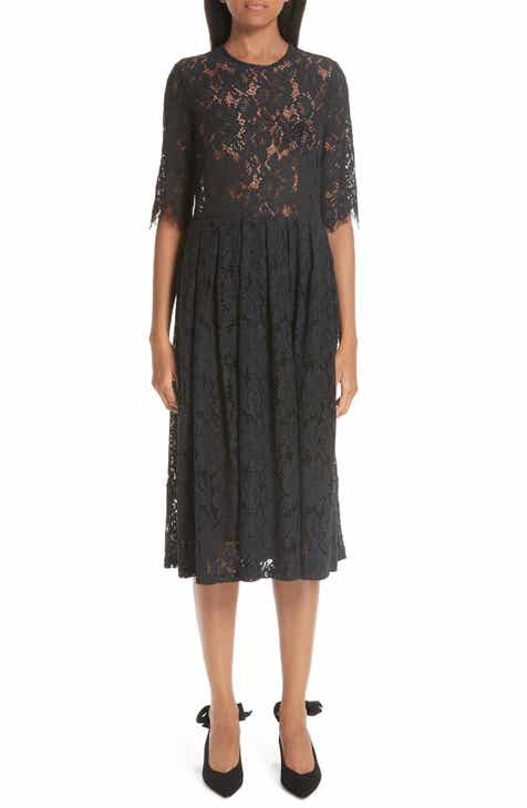 Ganni Cotton Blend Lace Dress by GANNI