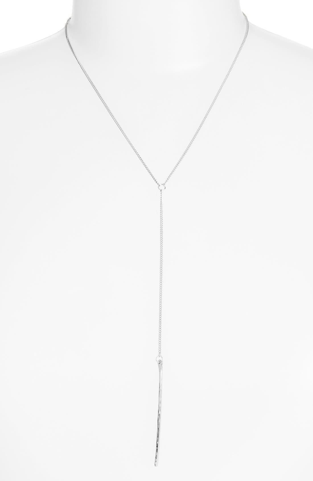 Ija Long Bar Y-Necklace,                         Main,                         color, Sterling Silver