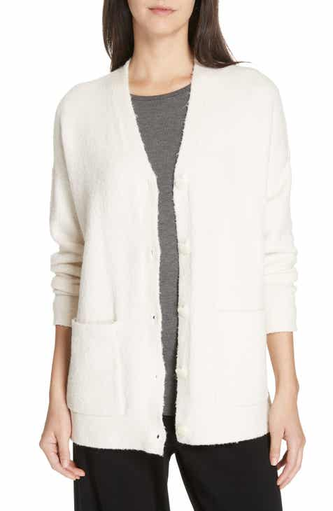 Eileen Fisher Organic Cotton Blend Boyfriend Cardigan 0d50e0213243