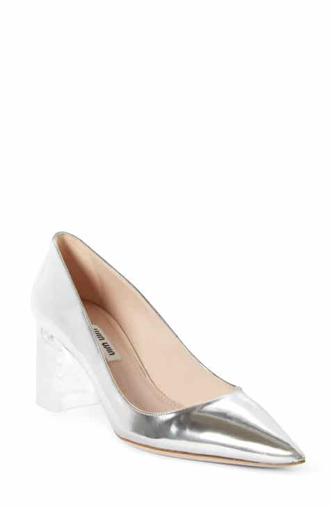 0fdce44625 Miu Miu Clear Heel Pump (Women)