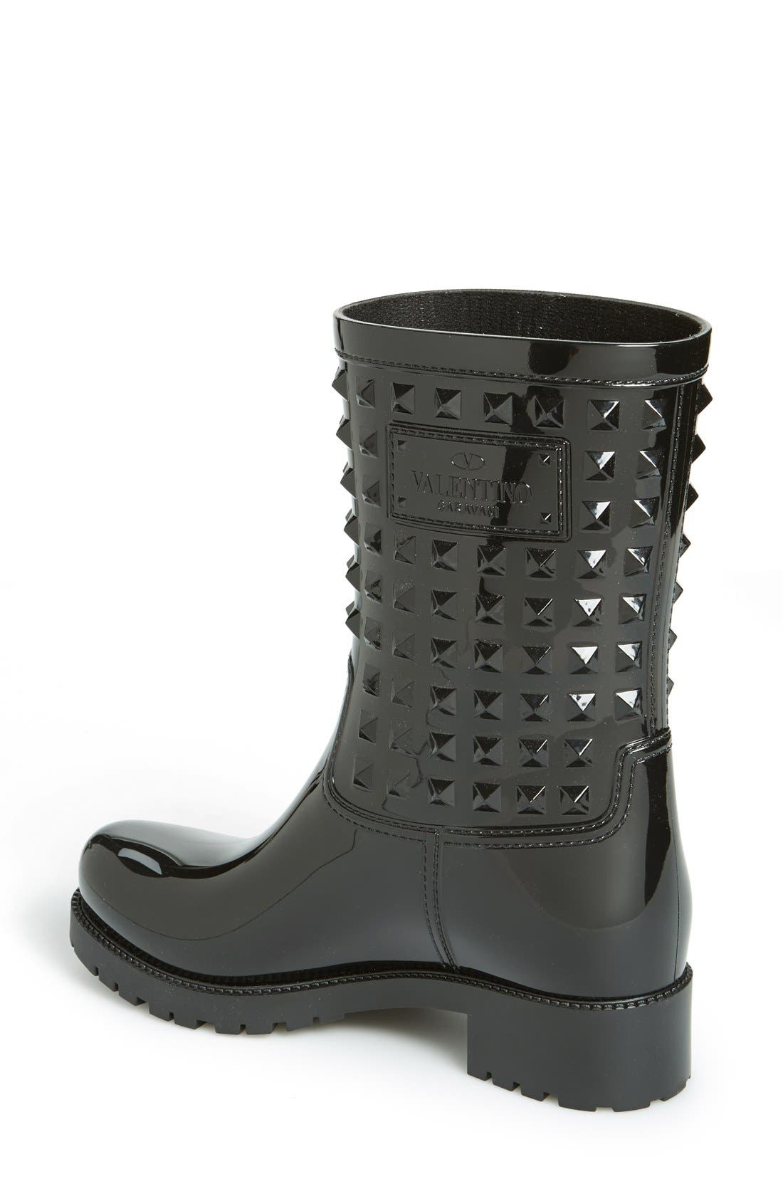 Alternate Image 3  - VALENTINO GARAVANI 'Rockstud' Rain Boot (Women)