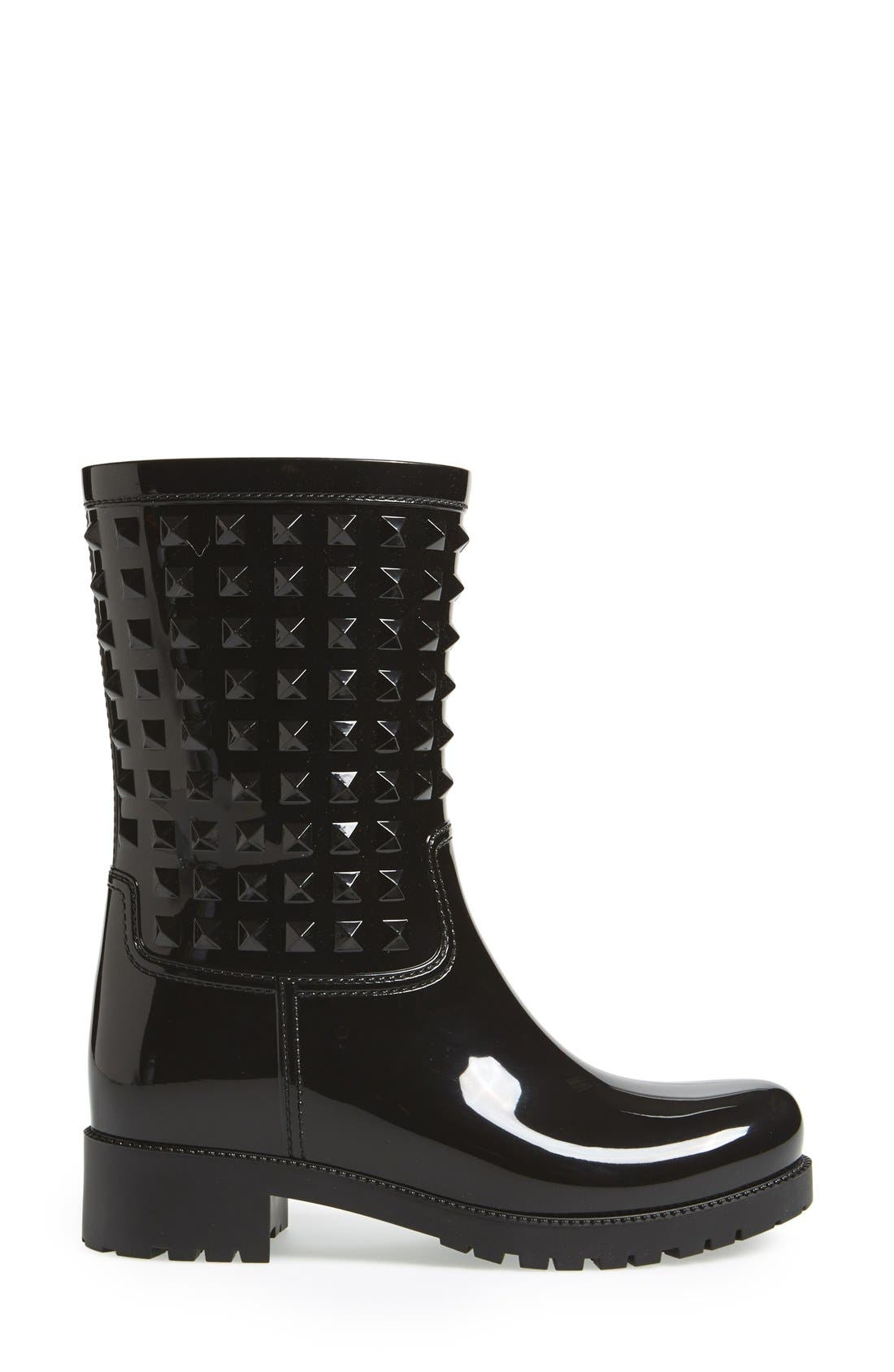 Alternate Image 4  - VALENTINO GARAVANI 'Rockstud' Rain Boot (Women)
