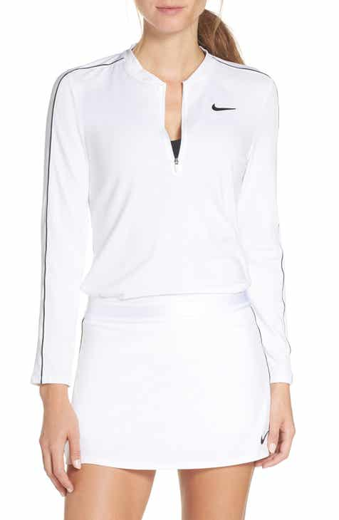 pretty nice fc74e 18cce Nike Court Dri-FIT Quarter Zip Top