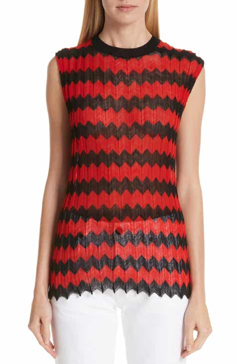 CALVIN KLEIN 205W39NYC Chevron Stripe Wool Tank Top by CALVIN KLEIN 205W39NYC