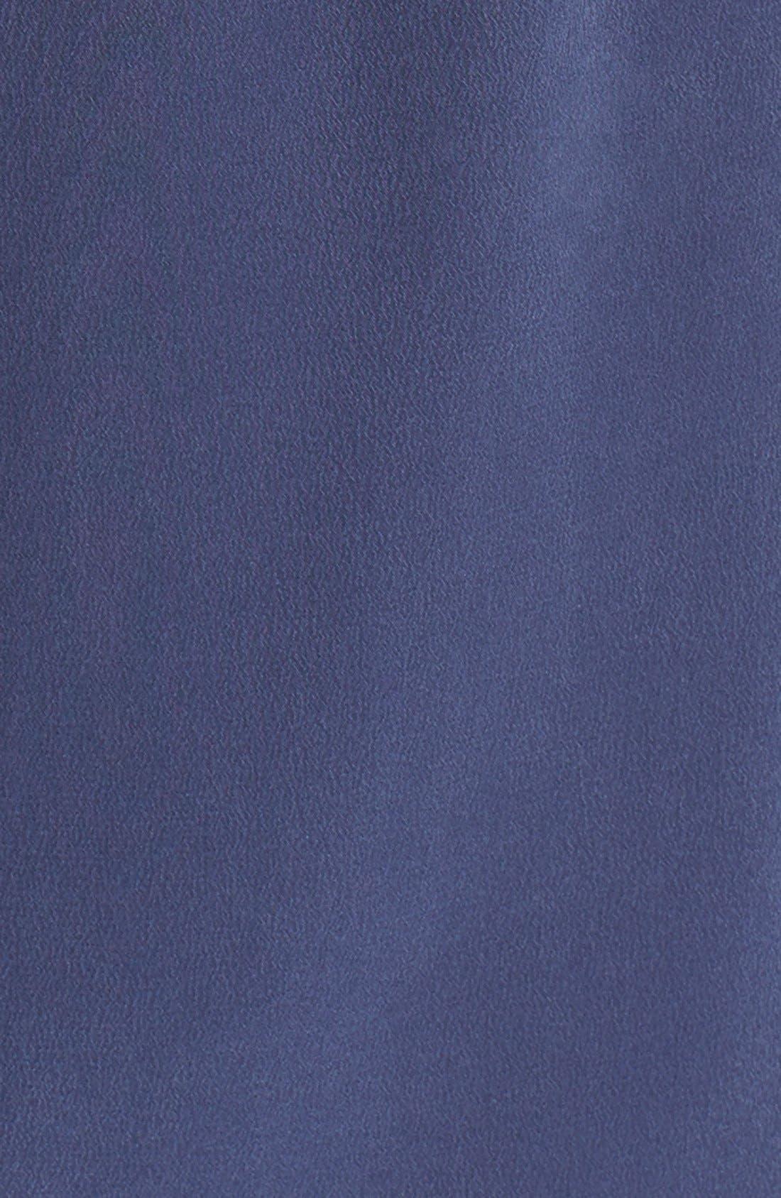 'Signature' Silk Shirtdress,                             Alternate thumbnail 3, color,                             Peacoat