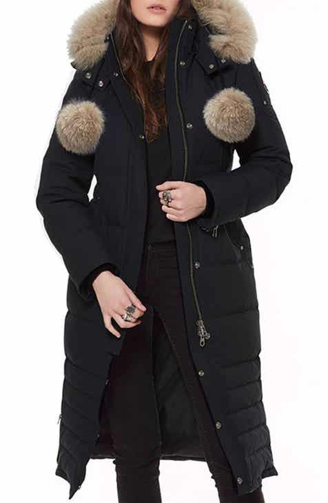 Moose Knuckles Bridle Path Down Parka with Genuine Fox Fur Trim 0516faaaf06a