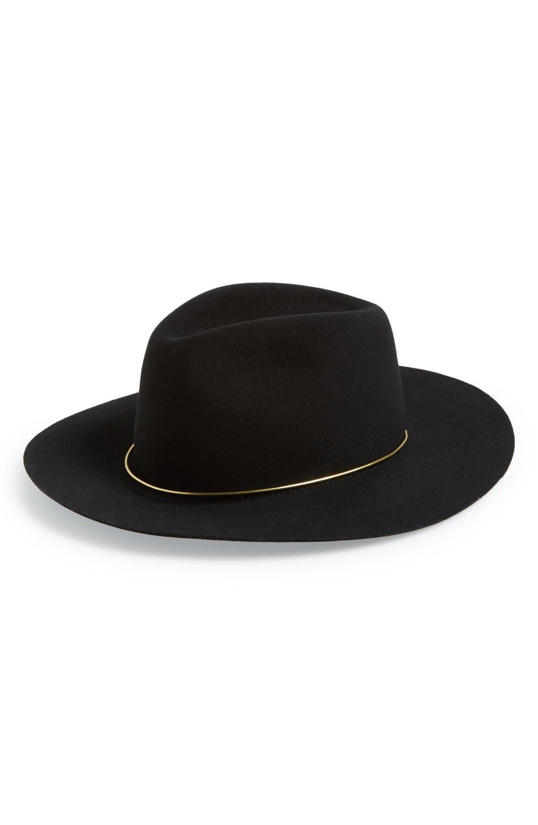 'Savoy' Hat,                             Main thumbnail 1, color,                             Black