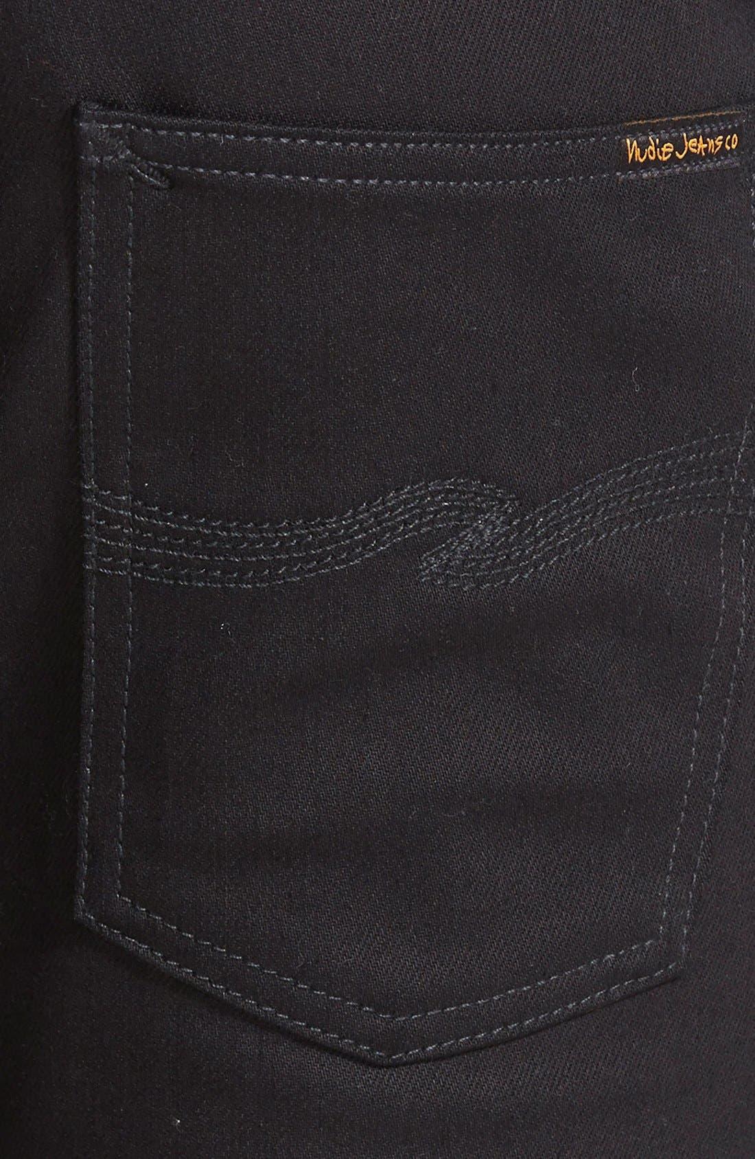 Alternate Image 4  - Nudie Jeans 'Thin Finn' Skinny Fit Jeans (Black Ring)