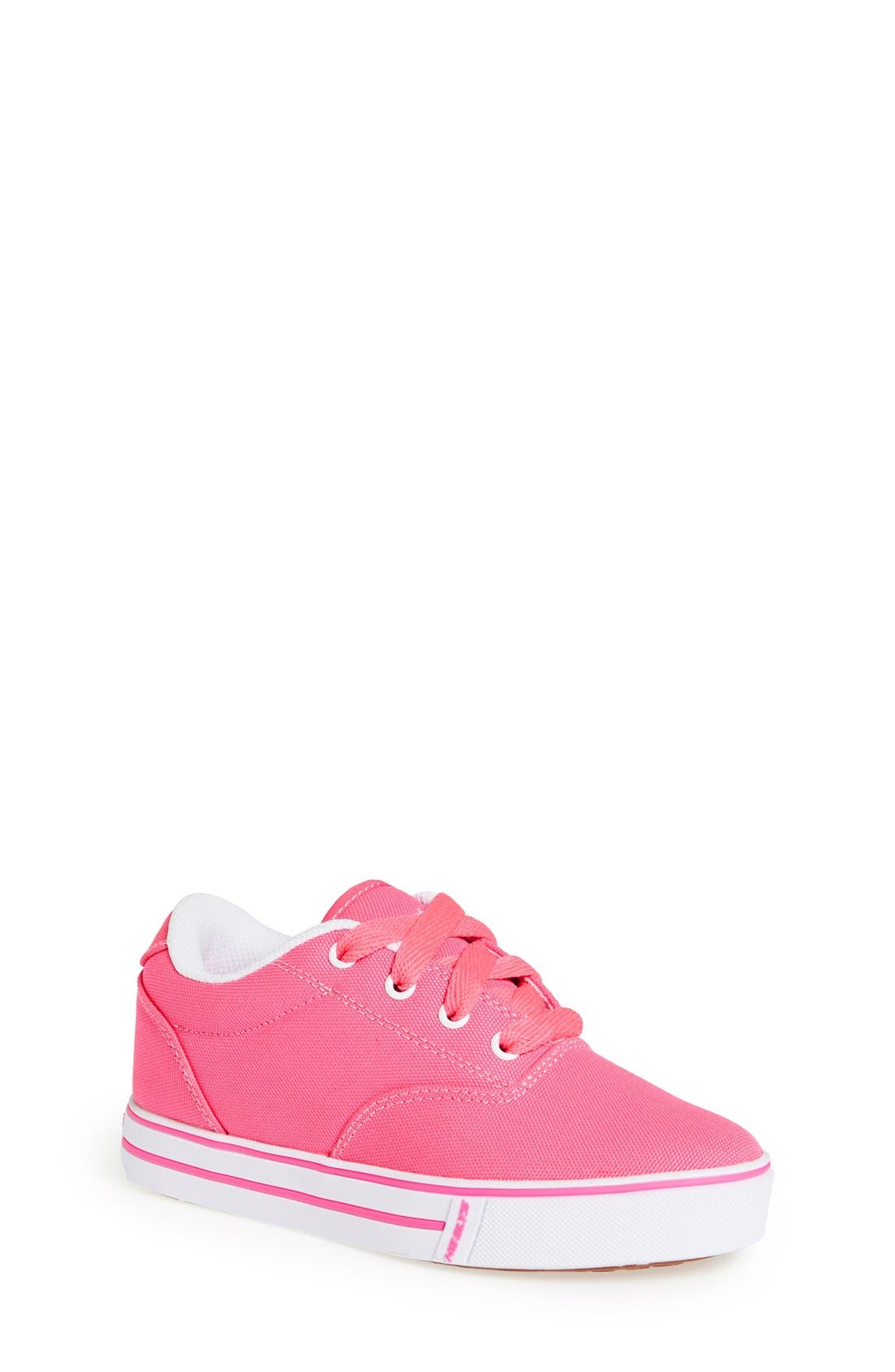 'Launch' Canvas Sneaker,                             Main thumbnail 1, color,                             Neon Pink