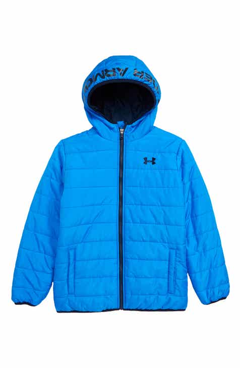 f190693e680b Under Armour Pronto Water Repellent Hooded Puffer Jacket (Big Boys)