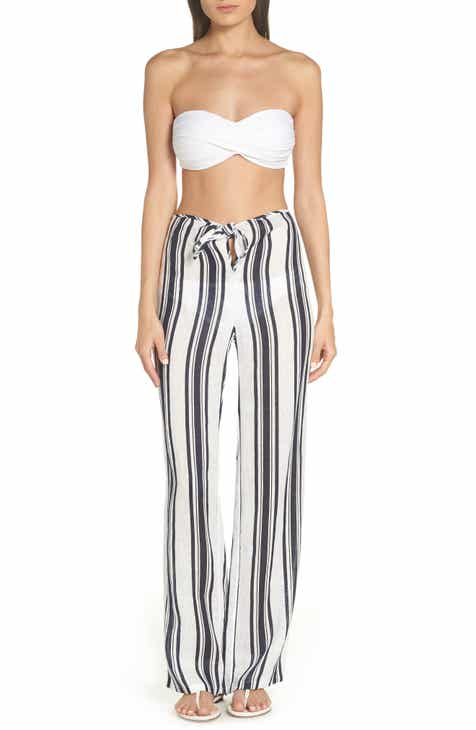 Tory Burch Awning Stripe Beach Pants by TORY BURCH