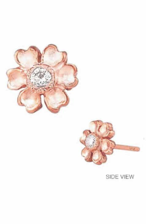 58bc1858cf2 Mini Mini Jewels Diamond Icon Flower Earring