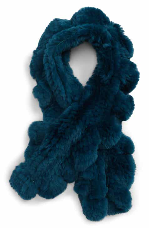 7675c0764b2 Toria Rose Genuine Rabbit Fur Ruffle Scarf (Special Purchase)